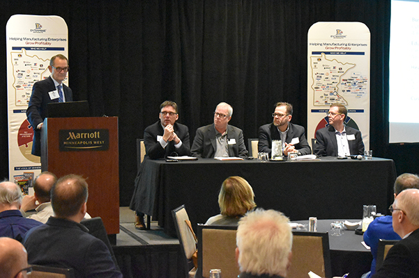 Enterprise Minnesota Executive Manufacturing Forum panelists