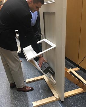 Demonstrating the security door