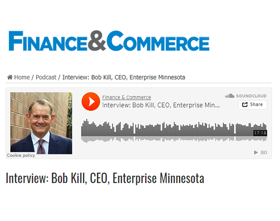 Bob Kill interviewed with Finance & Commerce