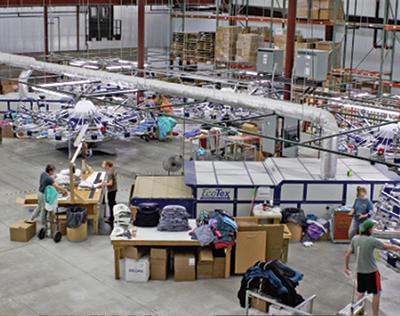 Lakeshirts production floor - Enterprise Minnesota magazine