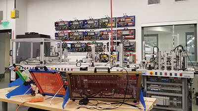 South Central College mechatronics training room