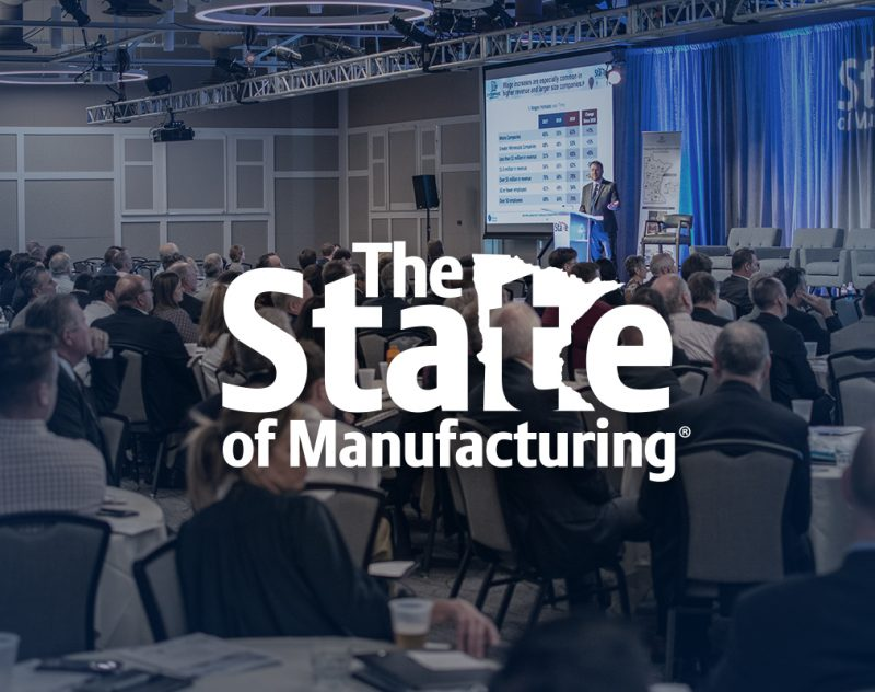 Crowd of people attending Enterprise Minnesota State of Manufacturing survey