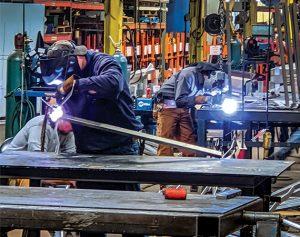 Towmaster welders building trailers