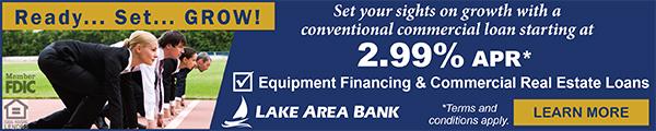 Lake Area Bank banner ad